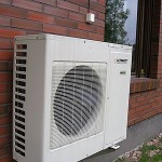 Mini-split heat pump outdoor condenser unit picture
