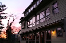 Image of passive solar design, the Monford Midnight Sun in Asheville NC