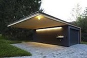 Modern carport with workshop room picture