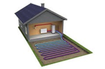 Geothermal, Ground Source Heat Pump illustration