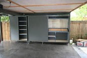Picture of built-in storage for a carport