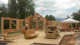 Picture or Eco-Panels home under construction
